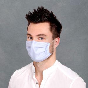 Masken aus Hemden-/Blusenstoff